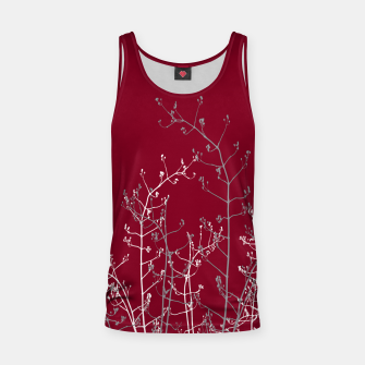 Thumbnail image of Modern Elegant Abstract Burgundy Red Flora Tank Top, Live Heroes