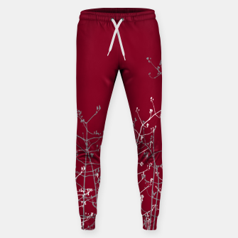 Thumbnail image of Modern Elegant Abstract Burgundy Red Flora Sweatpants, Live Heroes