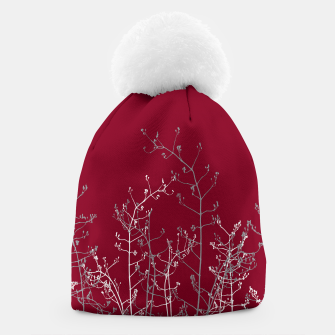 Thumbnail image of Modern Elegant Abstract Burgundy Red Flora Beanie, Live Heroes