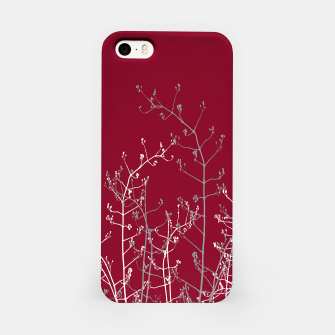 Thumbnail image of Modern Elegant Abstract Burgundy Red Flora iPhone Case, Live Heroes