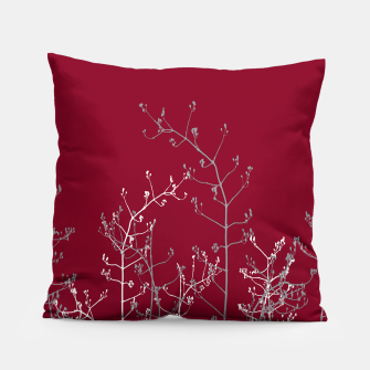 Thumbnail image of Modern Elegant Abstract Burgundy Red Flora Pillow, Live Heroes