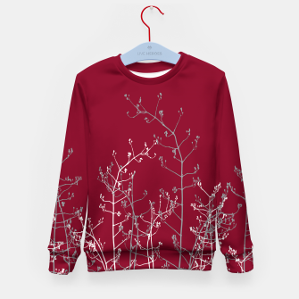 Thumbnail image of Modern Elegant Abstract Burgundy Red Flora Kid's sweater, Live Heroes