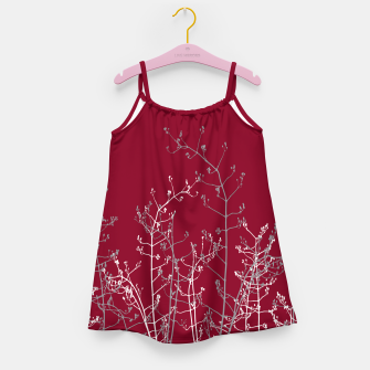 Thumbnail image of Modern Elegant Abstract Burgundy Red Flora Girl's dress, Live Heroes