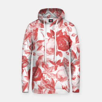 Thumbnail image of Elegant Romantic Toile Red Roses Floral on White Hoodie, Live Heroes