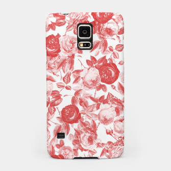 Thumbnail image of Elegant Romantic Toile Red Roses Floral on White Samsung Case, Live Heroes