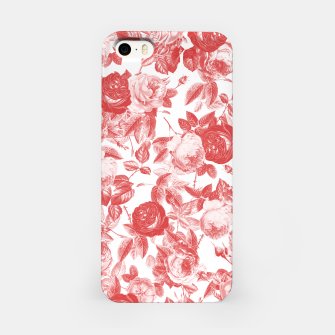 Thumbnail image of Elegant Romantic Toile Red Roses Floral on White iPhone Case, Live Heroes