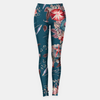 Miniaturka Romantic Floral Japanese Morning Glories on Blue Leggings, Live Heroes