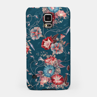 Thumbnail image of Romantic Floral Japanese Morning Glories on Blue Samsung Case, Live Heroes