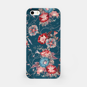 Thumbnail image of Romantic Floral Japanese Morning Glories on Blue iPhone Case, Live Heroes