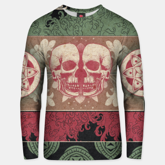 Thumbnail image of Patterns and Skuls Unisex sweater, Live Heroes