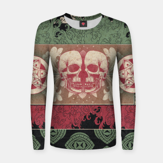 Thumbnail image of Patterns and Skuls Women sweater, Live Heroes