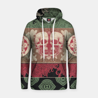 Thumbnail image of Patterns and Skuls Hoodie, Live Heroes
