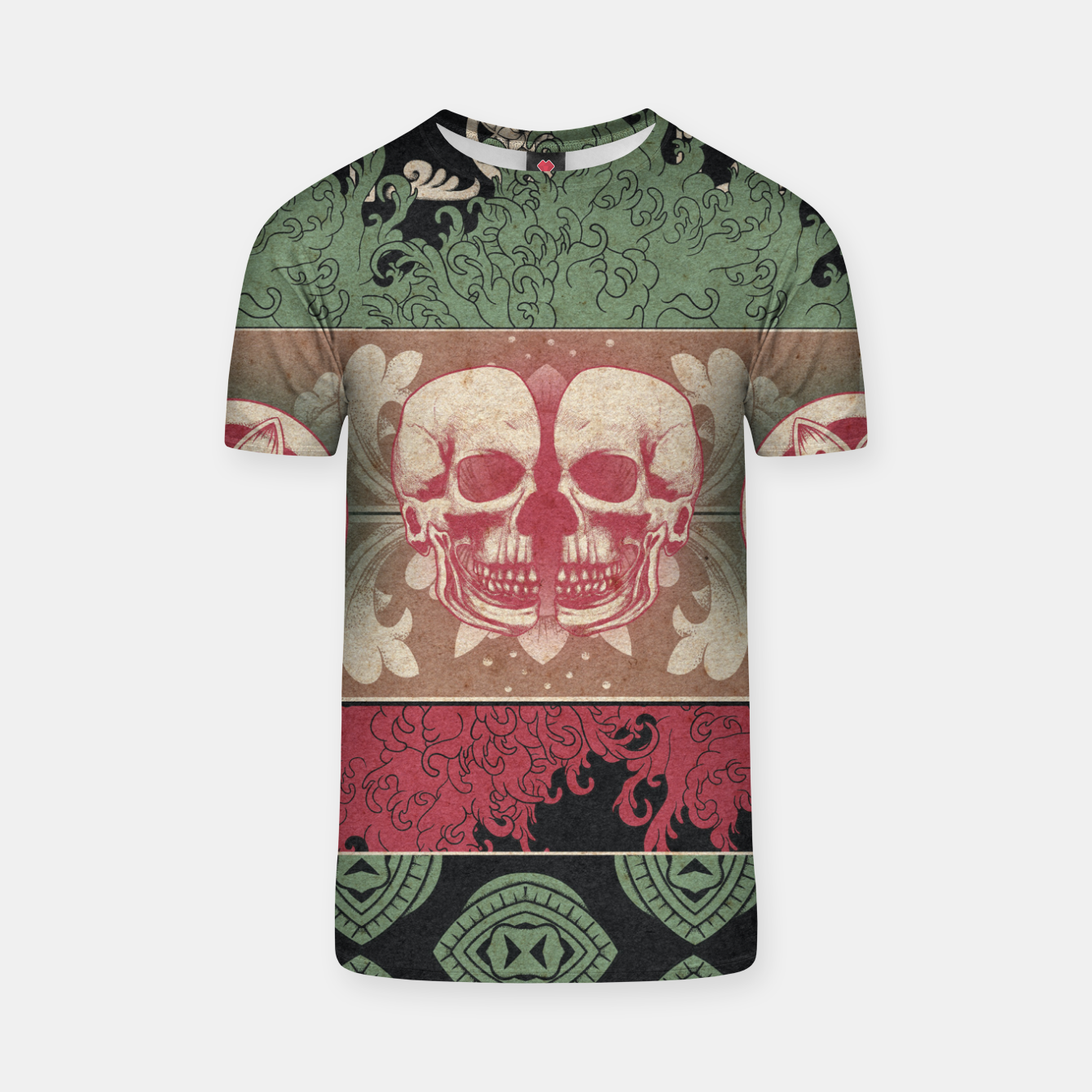 Zdjęcie Patterns and Skuls T-shirt - Live Heroes