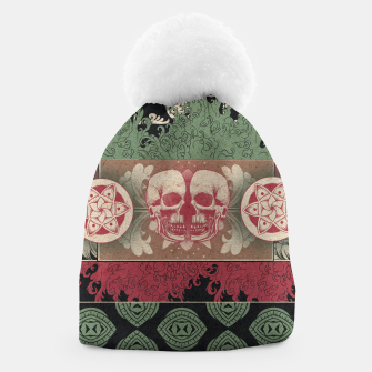 Thumbnail image of Patterns and Skuls Beanie, Live Heroes