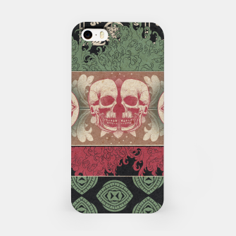 Patterns and Skuls iPhone Case obraz miniatury