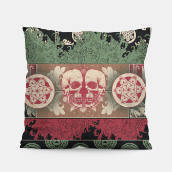 Thumbnail image of Patterns and Skuls Pillow, Live Heroes