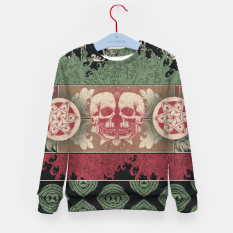 Thumbnail image of Patterns and Skuls Kid's sweater, Live Heroes