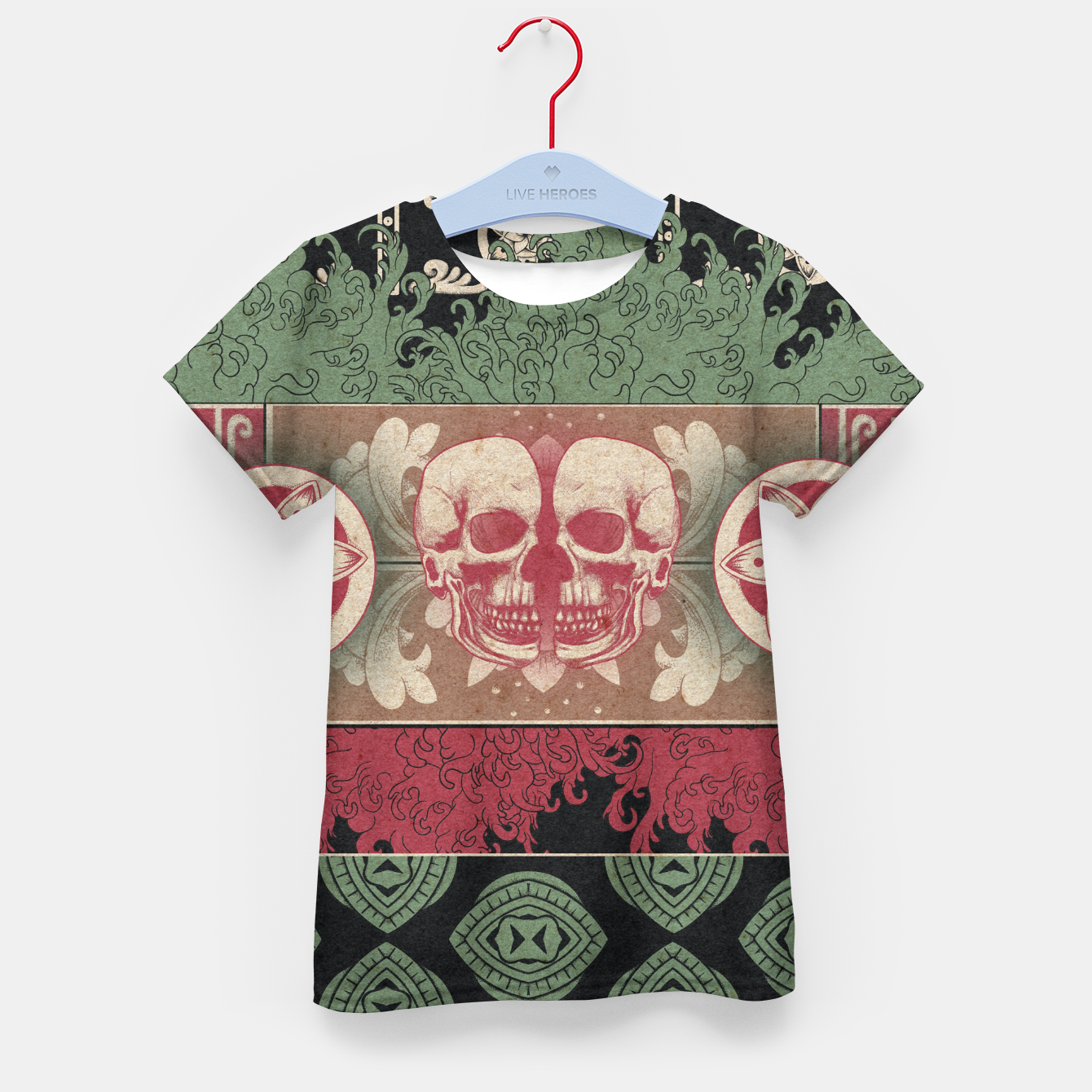 Zdjęcie Patterns and Skuls Kid's t-shirt - Live Heroes