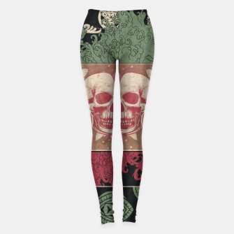 Thumbnail image of Patterns and Skuls Leggings, Live Heroes