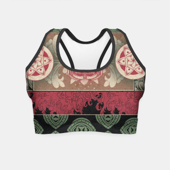 Miniaturka Patterns and Skuls Crop Top, Live Heroes