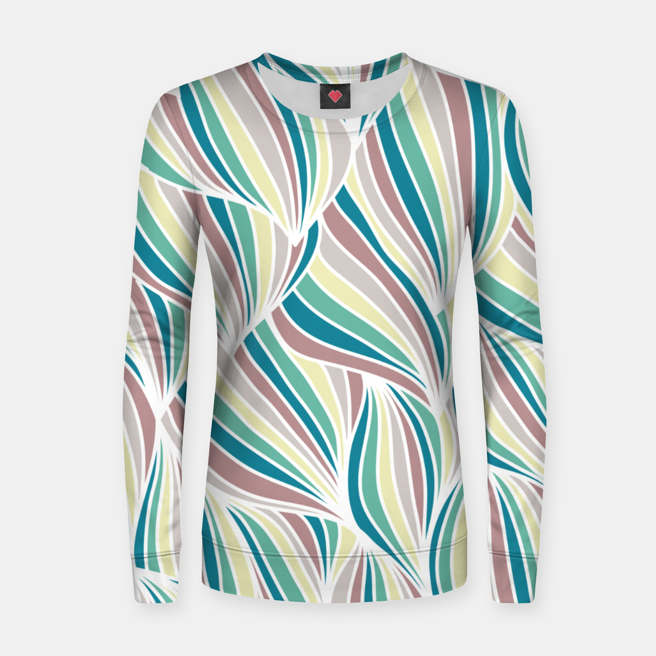 Zdjęcie Colorful Lines Vintage Vibes Pretty Abstract Art Retro Women sweater - Live Heroes