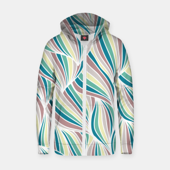 Miniatur Colorful Lines Vintage Vibes Pretty Abstract Art Retro Zip up hoodie, Live Heroes