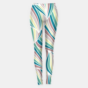 Miniatur Colorful Lines Vintage Vibes Pretty Abstract Art Retro Leggings, Live Heroes