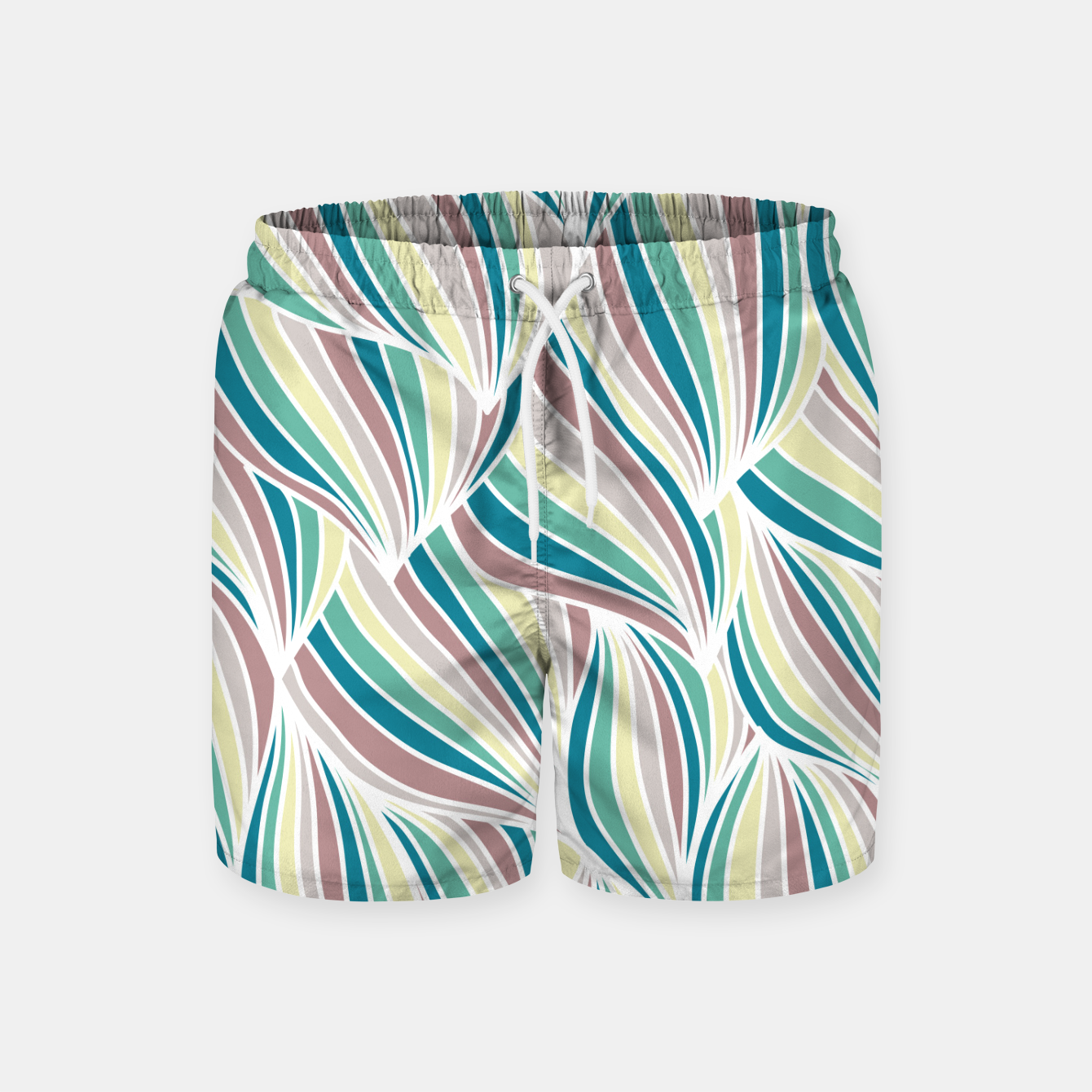 Zdjęcie Colorful Lines Vintage Vibes Pretty Abstract Art Retro Swim Shorts - Live Heroes