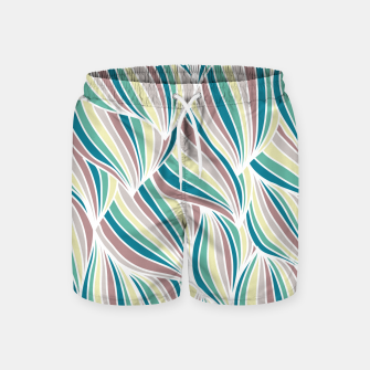Miniatur Colorful Lines Vintage Vibes Pretty Abstract Art Retro Swim Shorts, Live Heroes