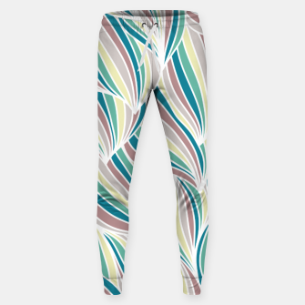 Miniatur Colorful Lines Vintage Vibes Pretty Abstract Art Retro Sweatpants, Live Heroes