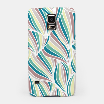 Miniatur Colorful Lines Vintage Vibes Pretty Abstract Art Retro Samsung Case, Live Heroes