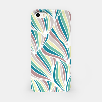 Miniatur Colorful Lines Vintage Vibes Pretty Abstract Art Retro iPhone Case, Live Heroes