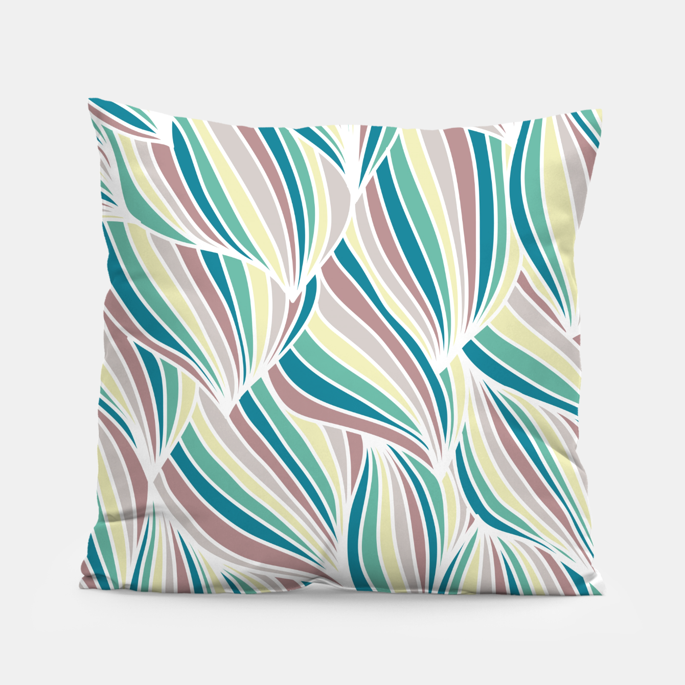Zdjęcie Colorful Lines Vintage Vibes Pretty Abstract Art Retro Pillow - Live Heroes