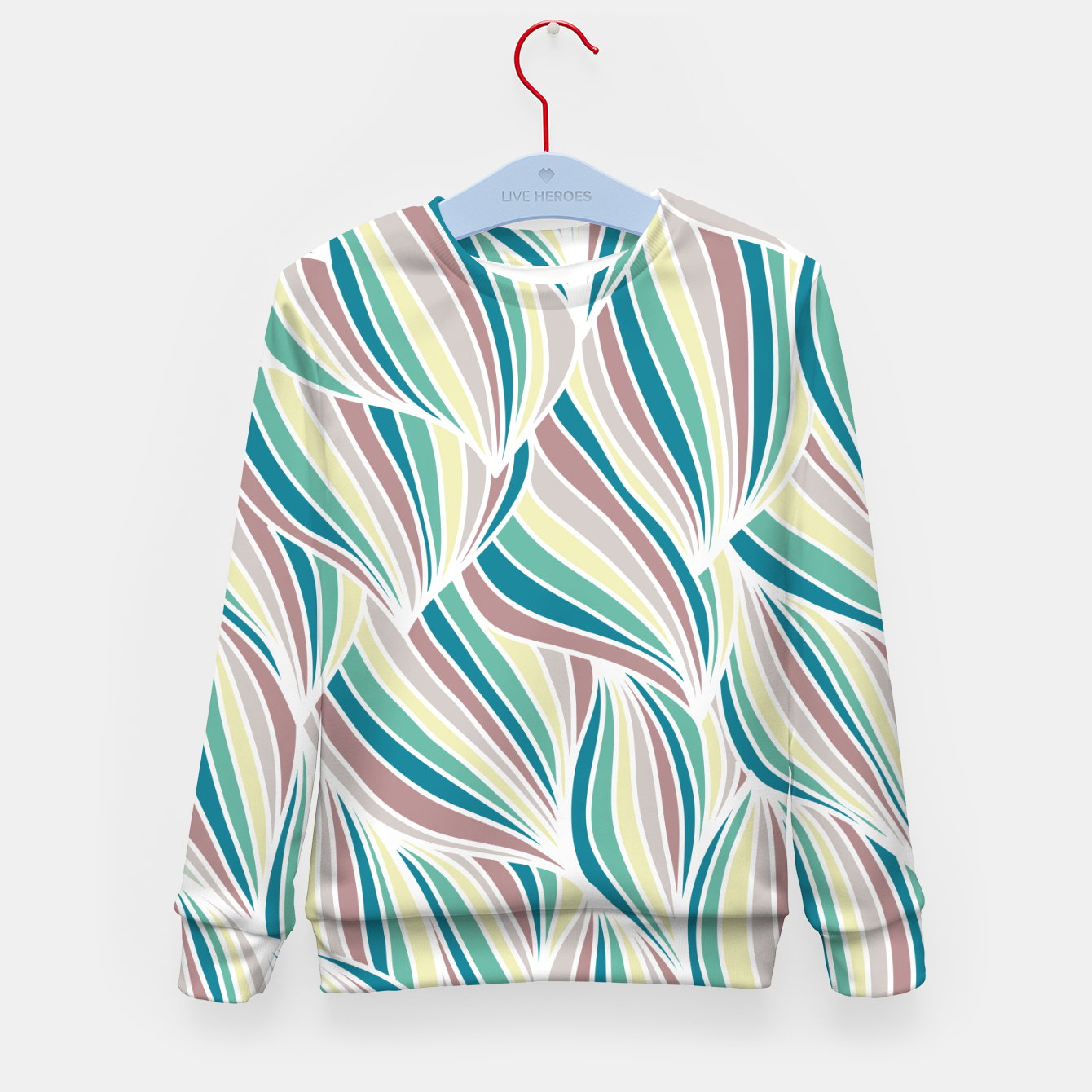 Zdjęcie Colorful Lines Vintage Vibes Pretty Abstract Art Retro Kid's sweater - Live Heroes