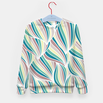 Miniatur Colorful Lines Vintage Vibes Pretty Abstract Art Retro Kid's sweater, Live Heroes