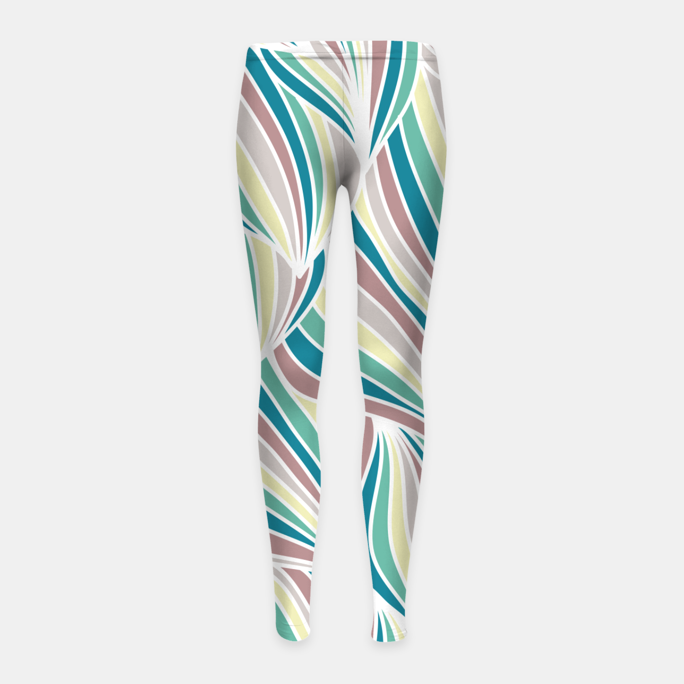 Zdjęcie Colorful Lines Vintage Vibes Pretty Abstract Art Retro Girl's leggings - Live Heroes