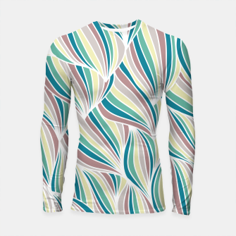 Miniatur Colorful Lines Vintage Vibes Pretty Abstract Art Retro Longsleeve rashguard , Live Heroes
