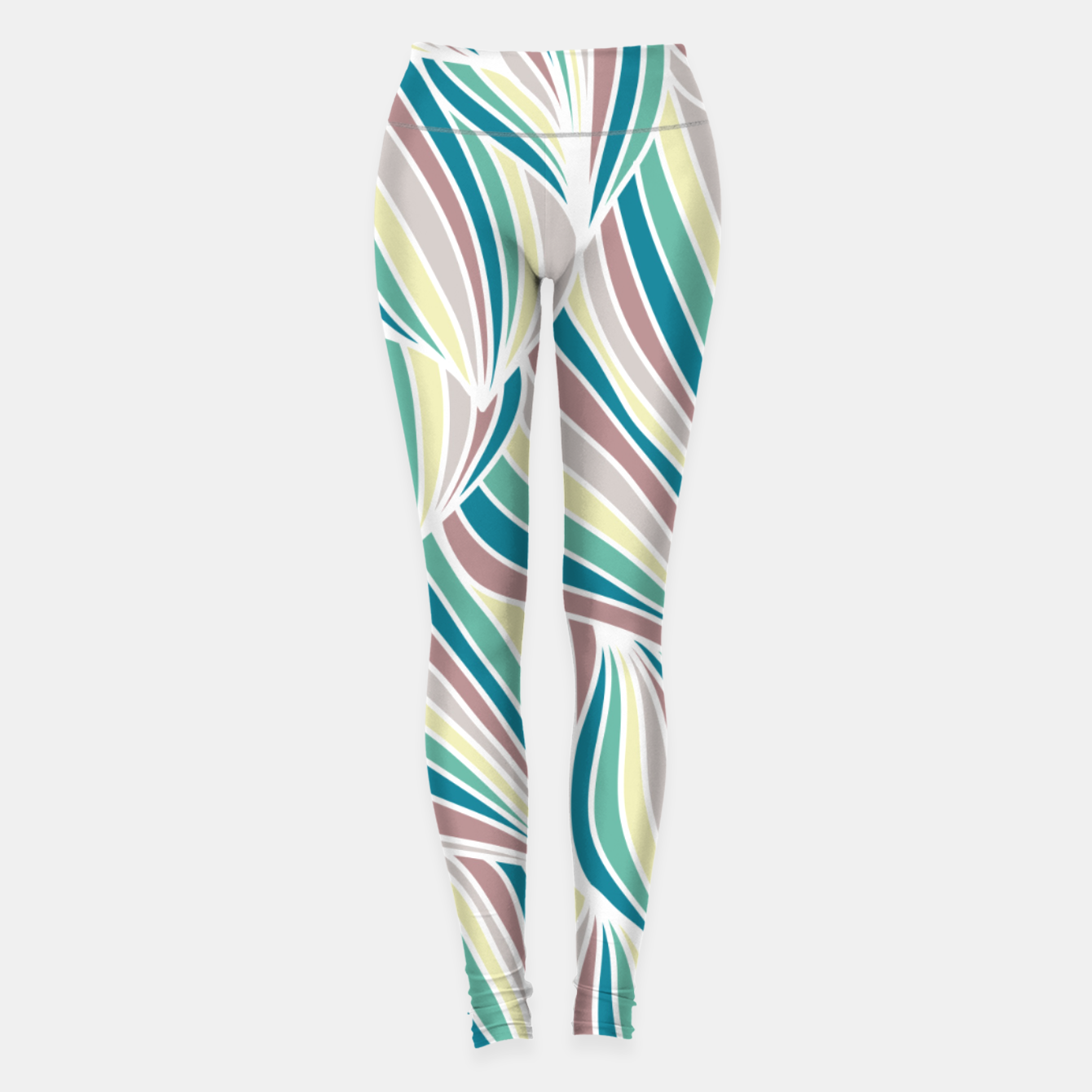 Zdjęcie Colorful Lines Vintage Vibes Pretty Abstract Art Retro Leggings - Live Heroes