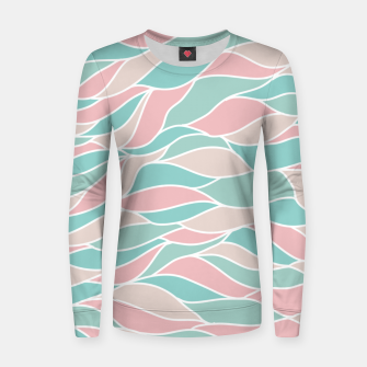 Thumbnail image of Girly Feminine Waves Pastel Colors Classy Abstract Art  Women sweater, Live Heroes