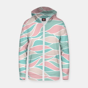 Thumbnail image of Girly Feminine Waves Pastel Colors Classy Abstract Art  Zip up hoodie, Live Heroes