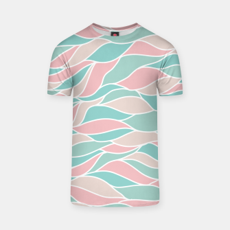 Thumbnail image of Girly Feminine Waves Pastel Colors Classy Abstract Art  T-shirt, Live Heroes