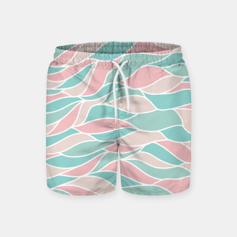 Thumbnail image of Girly Feminine Waves Pastel Colors Classy Abstract Art  Swim Shorts, Live Heroes