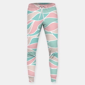 Thumbnail image of Girly Feminine Waves Pastel Colors Classy Abstract Art  Sweatpants, Live Heroes