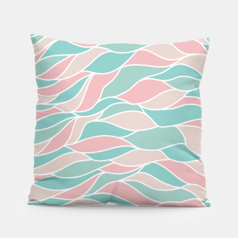 Thumbnail image of Girly Feminine Waves Pastel Colors Classy Abstract Art  Pillow, Live Heroes