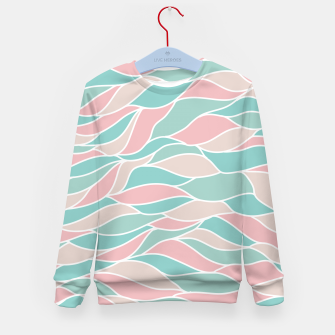 Thumbnail image of Girly Feminine Waves Pastel Colors Classy Abstract Art  Kid's sweater, Live Heroes