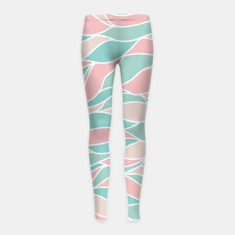 Thumbnail image of Girly Feminine Waves Pastel Colors Classy Abstract Art  Girl's leggings, Live Heroes