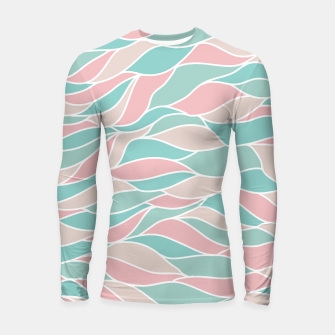 Thumbnail image of Girly Feminine Waves Pastel Colors Classy Abstract Art  Longsleeve rashguard , Live Heroes