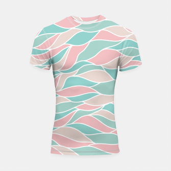 Thumbnail image of Girly Feminine Waves Pastel Colors Classy Abstract Art  Shortsleeve rashguard, Live Heroes