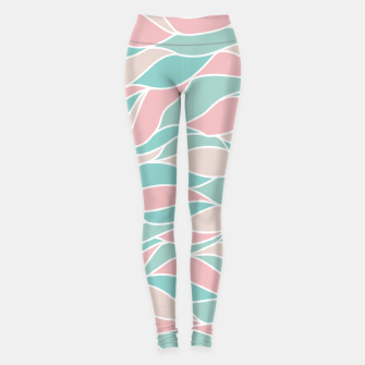 Thumbnail image of Girly Feminine Waves Pastel Colors Classy Abstract Art  Leggings, Live Heroes