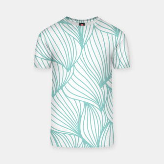 Thumbnail image of Minimal Turquoise White Waves Delicate Natural Artist T-shirt, Live Heroes